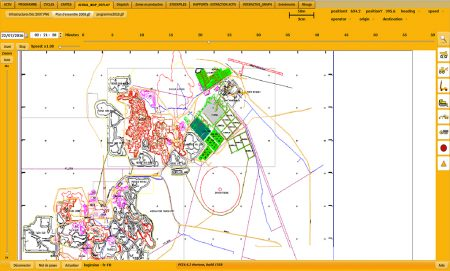 Logimine Fleet management system-Horizon software Aerial map page
